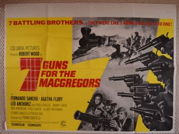 Movie Posters - 7 Guns For the MacGregors | British Posters